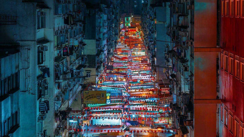 ночной рынок Гонконга
